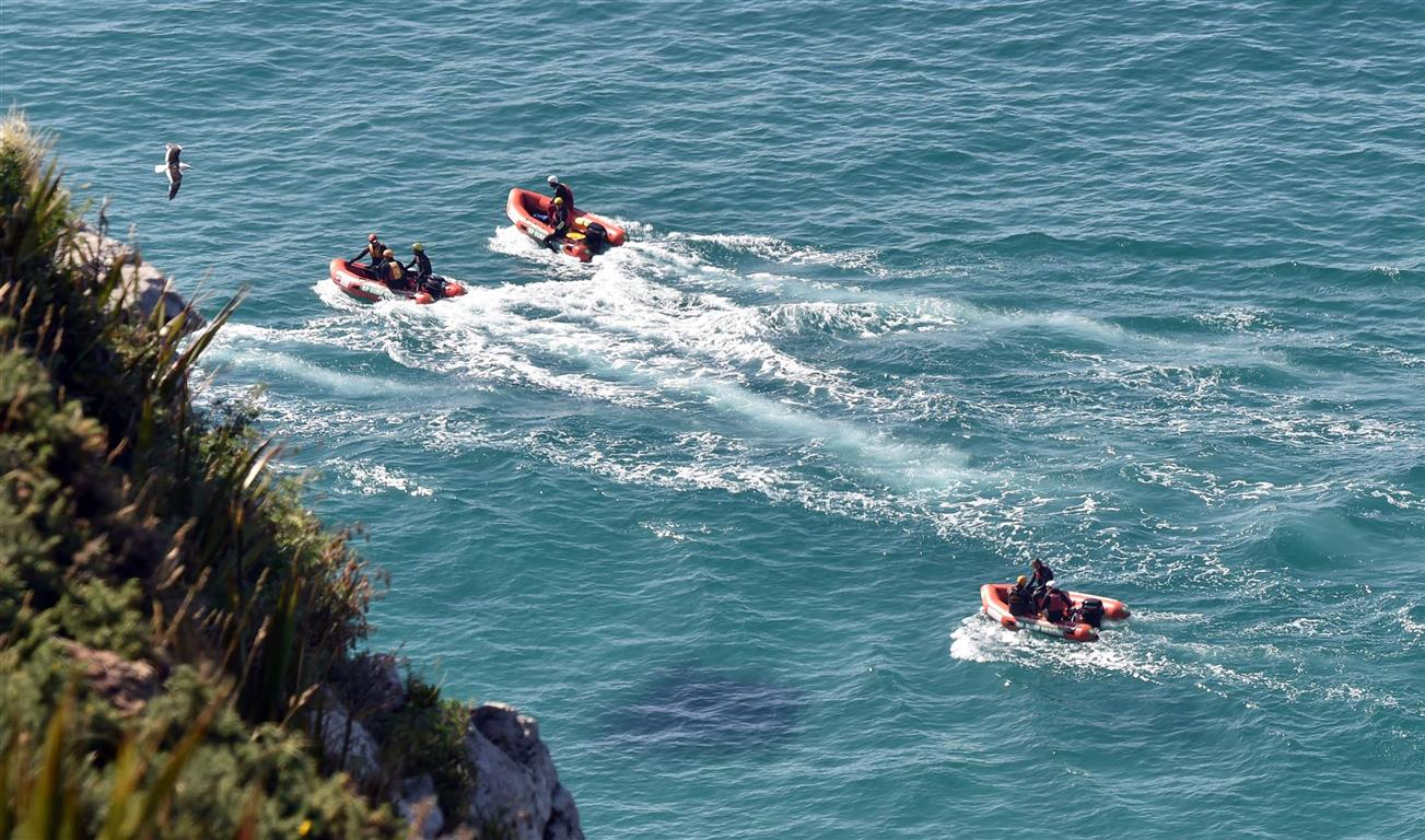 Search efforts took place on land and sea. Photo: Stephen Jaquiery