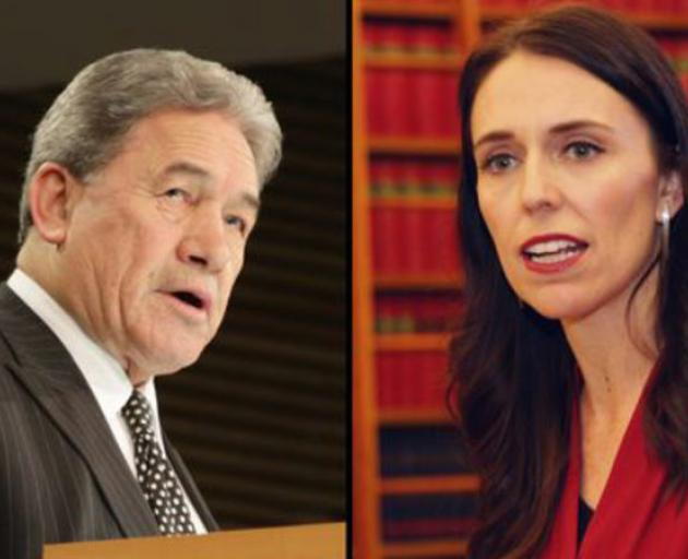 Winston Peters and Jacinda Ardern. Photo: RNZ