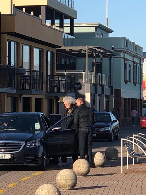 Legendary guitarist Brian May spotted in St Clair yesterday. Photo: Supplied