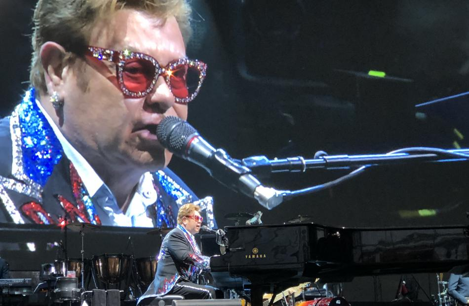 Sir Elton John performing in Dunedin last week. Photo: supplied