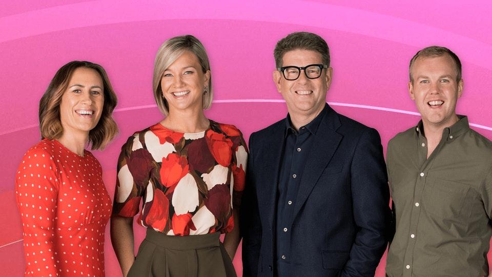 Jenny-May, Hayley, John and Matty from Breakfast. Photo: TVNZ