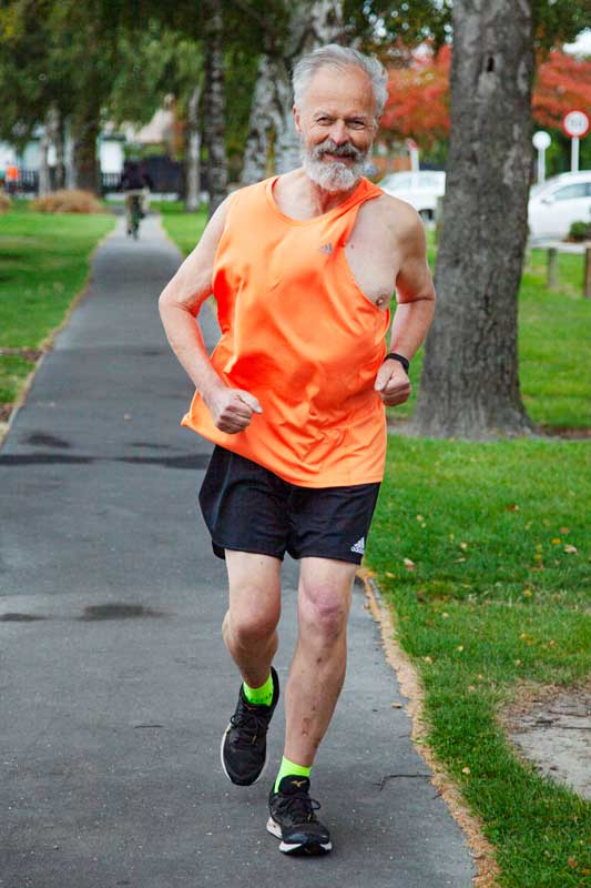 Richard Doehring of St Albans running at St Albans Park. He is coping with the lockdown by...