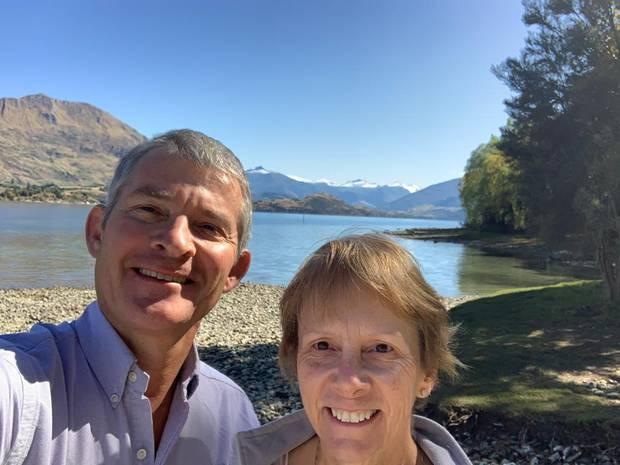 British visitors Tony and Jane Carruthers are stuck in Wanaka during the coronavirus shutdown....
