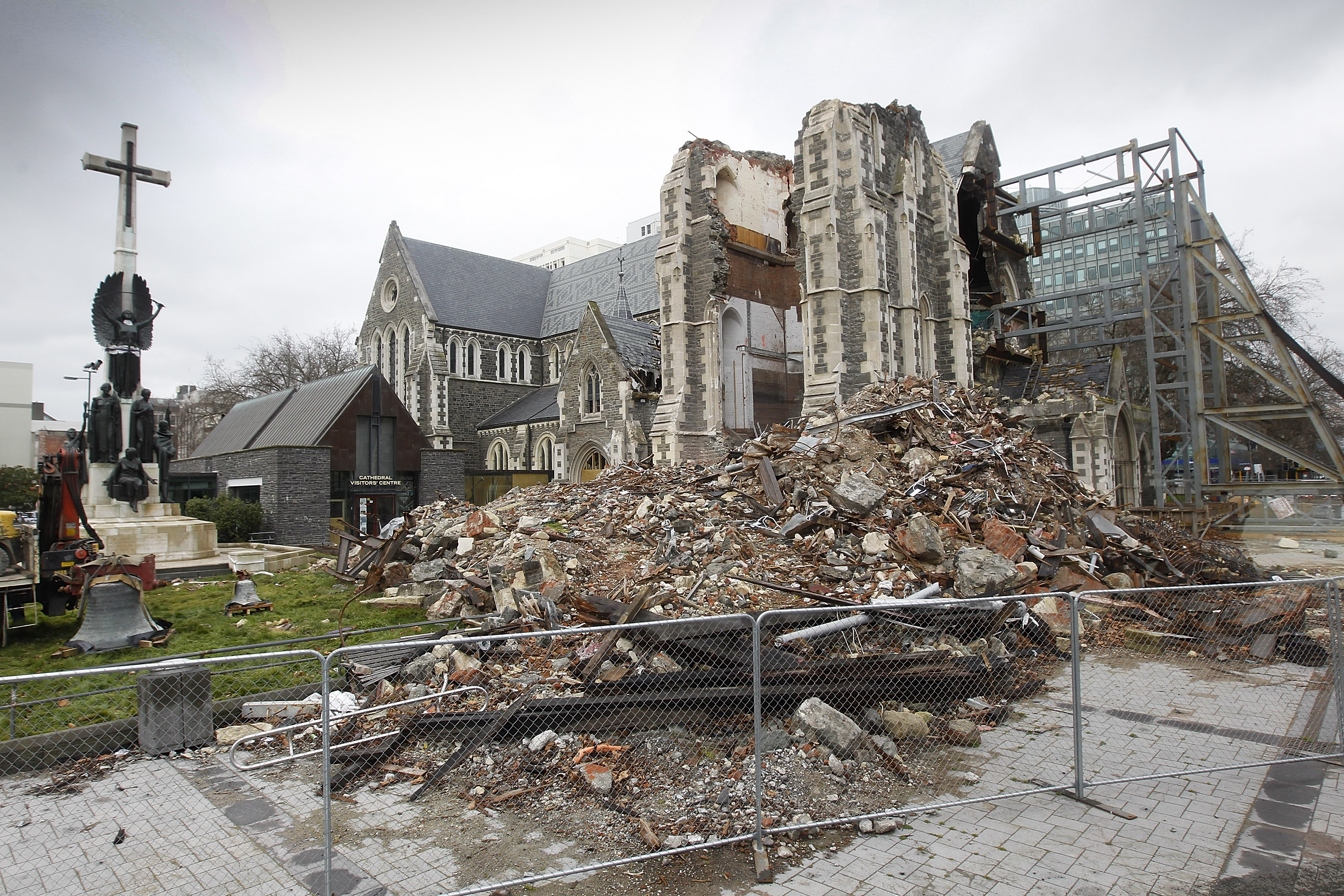 The earthquake-damaged Christ Church Cathedral pictured on August 12, 2011. Photo: Martin Hunter...