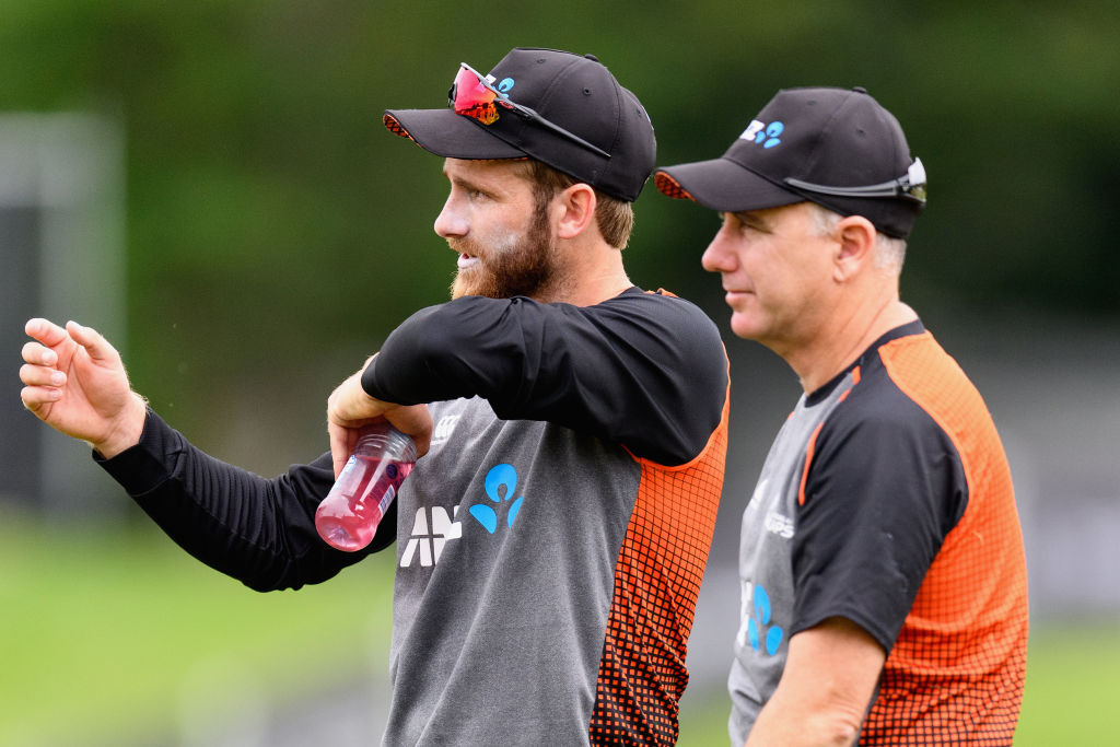 Black Caps captain Kane Williamson (L) and coach Gary Stead are chasing success across the Tasman...