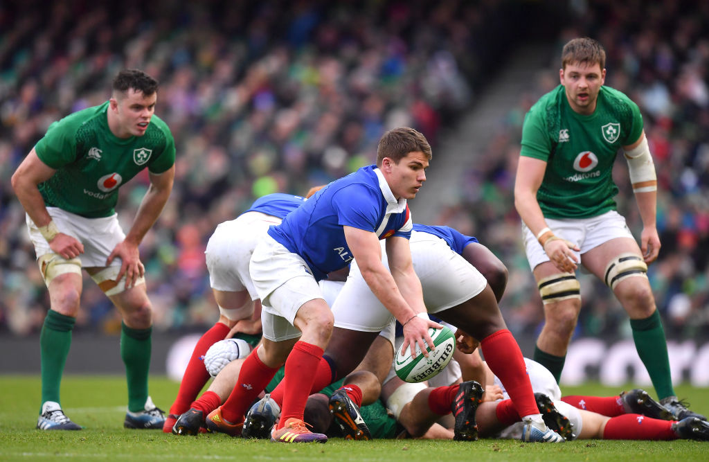 France and Ireland in a Six Nations match last year. Photo: Getty