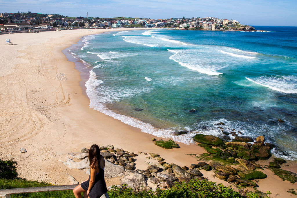 Sydney's famous Bondi Beach is closed owing to coronavirus concerns. Photo: Getty