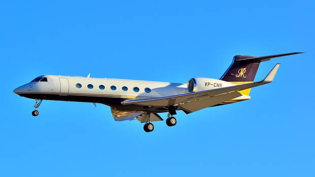 This Gulfstream G650, owned by Saudi Billionaire Nasser al-Rashid, last night landed in...