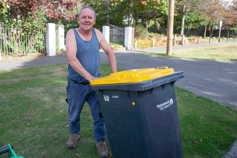 Putting the bins out on Fairview St, Somerfield.