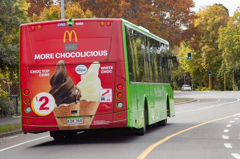 Yum, if only.. Bus on North Parade, Shirley.