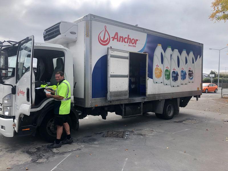 Selwyn Dairy in Spreydon gets a fresh delivery of milk.