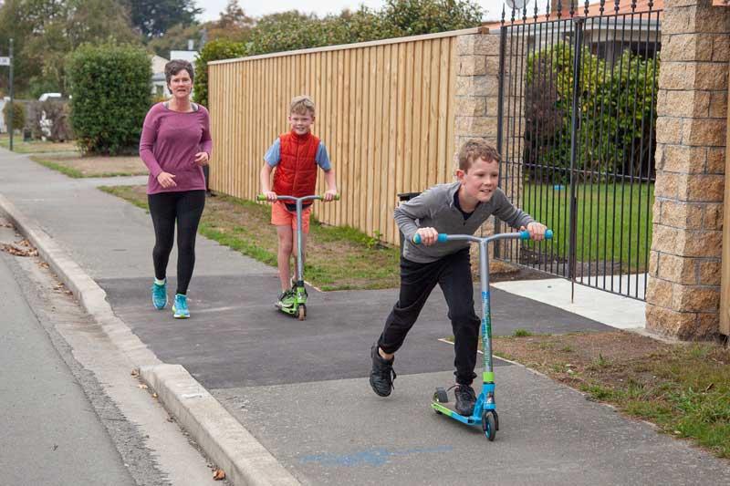 Racing along on Blakes Rd, Prebbleton
