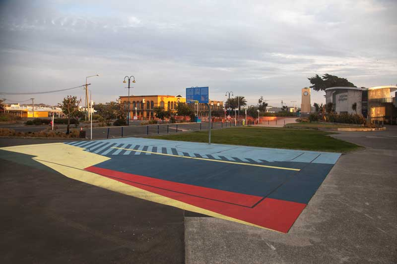 Basketball courts at New Brighton.
