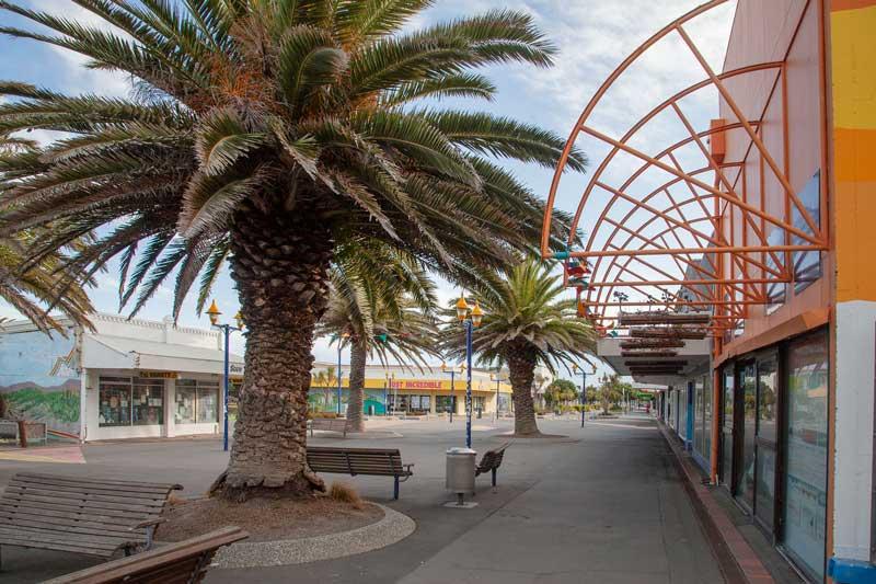 A deserted New Brighton Mall.