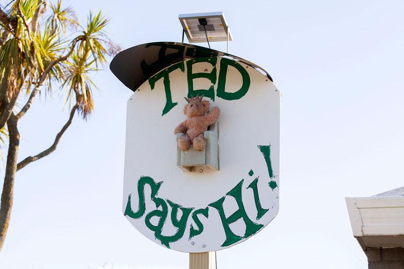'King Ted' on Bridge St, South New Brighton.
