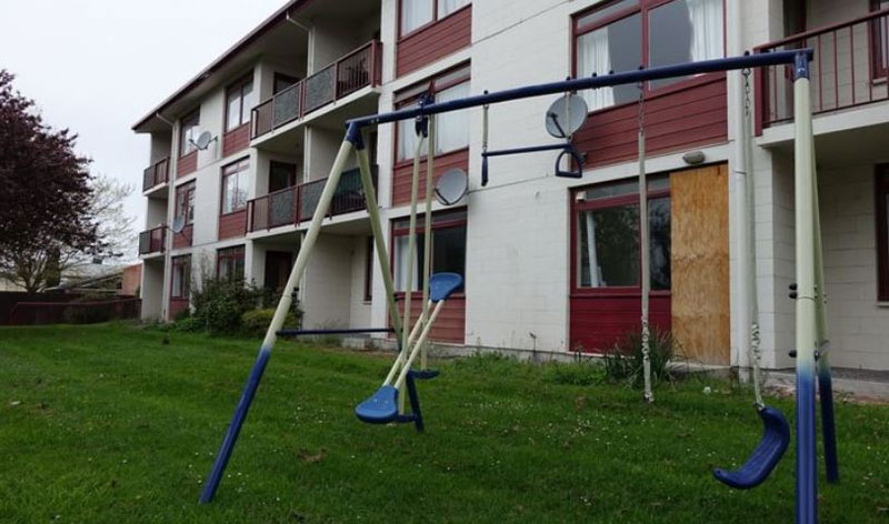 Sprinklers extinguished a kitchen fire at Airedale Courts, an apartment complex in Christchurch,...