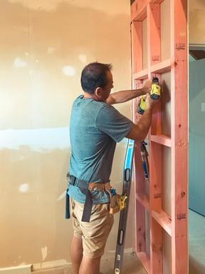 Dunedin man Paul le Comte is tacking some DIY during the lockdown. Photo: Paul le Comte -...