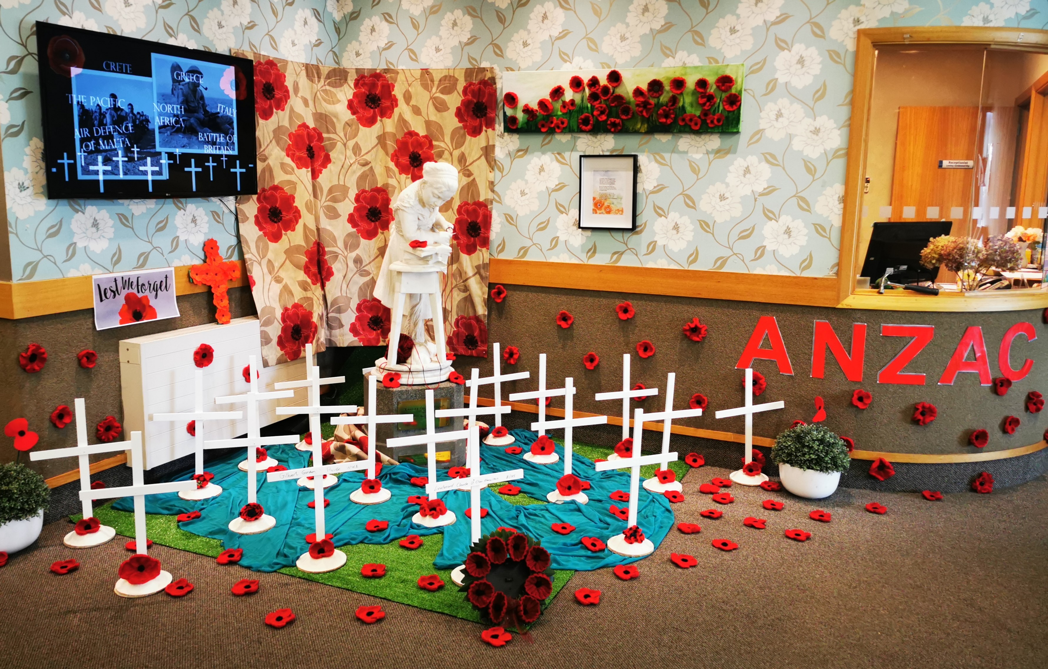 A display remembering those who died in the world wars was created by residents and staff at the...