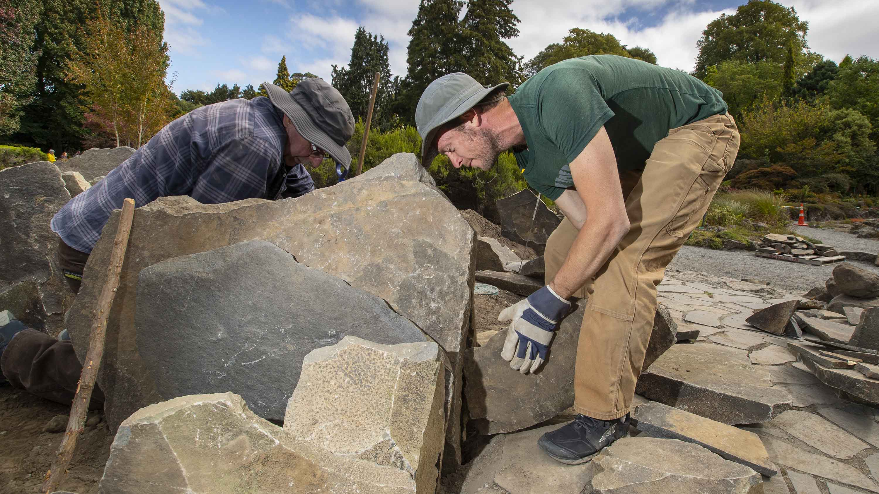 The new crevice gardens at the Botanic Gardens. Photo: Newsline/CCC