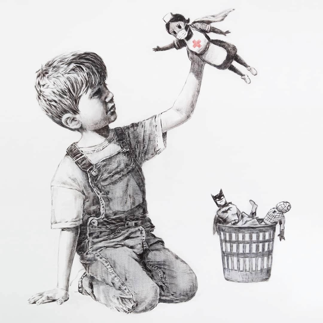 Nurse The Chosen Superhero In New Banksy Artwork