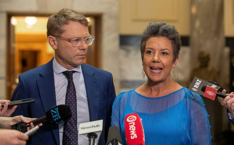 National finance spokesman Paul Goldsmith and deputy leader Paula Bennett. Photo: NZ Herald