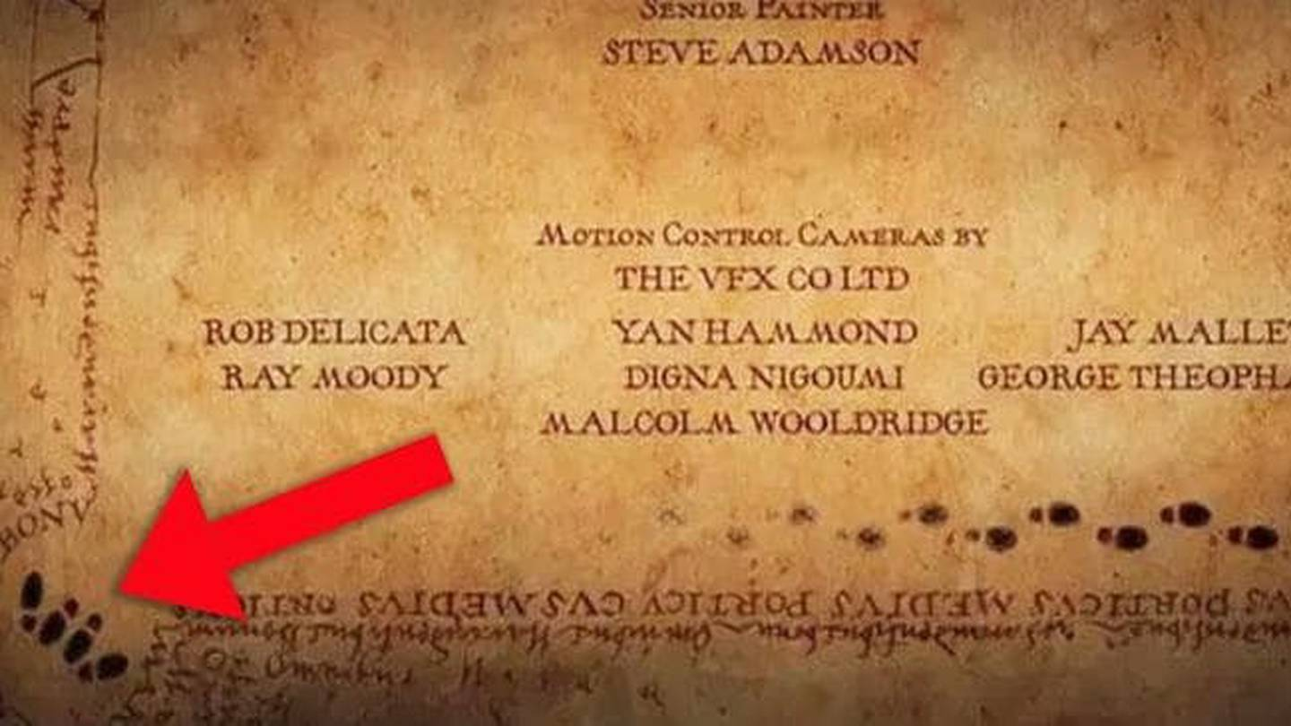 The telltale position may have been missed by even the biggest Harry Potter fans as it appears at...