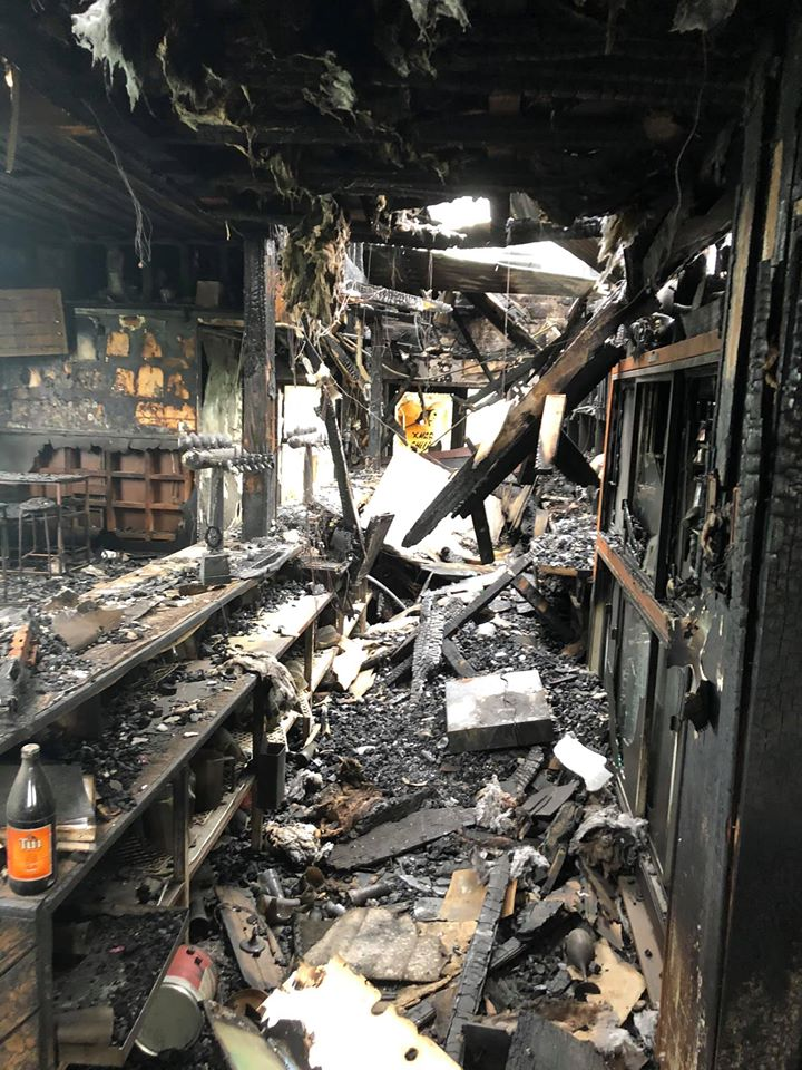An electrical fault was responsible for the blaze which destroyed the tavern. Photo: Supplied