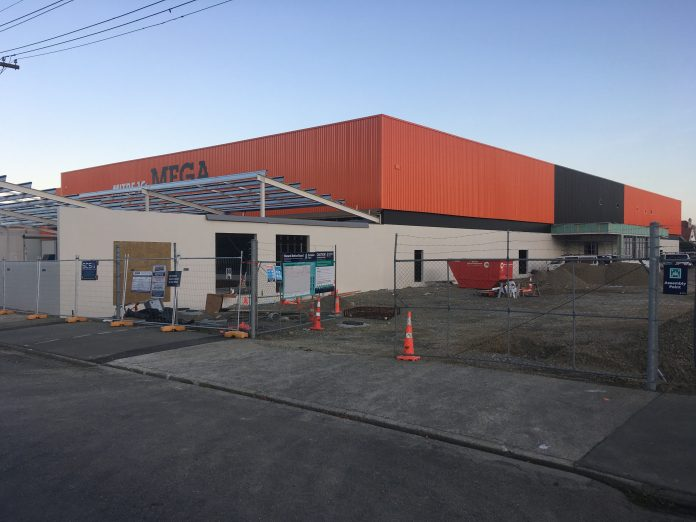 Oamaru's new Mitre 10 Mega store has been delayed by a month due to Covid-19. Photo: Daniel...