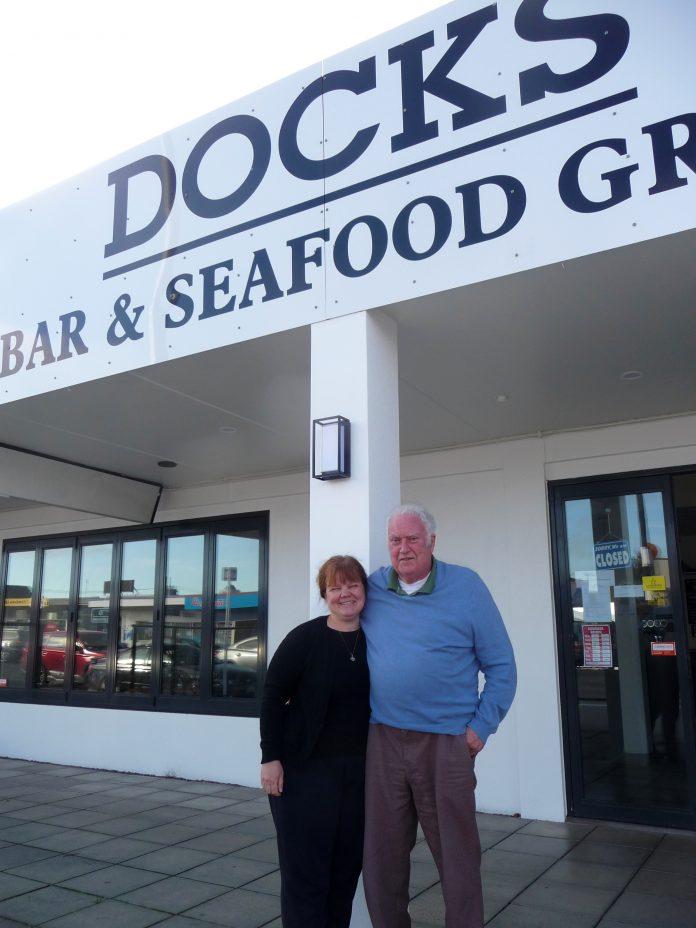 Anna and John McDonald at Docks.