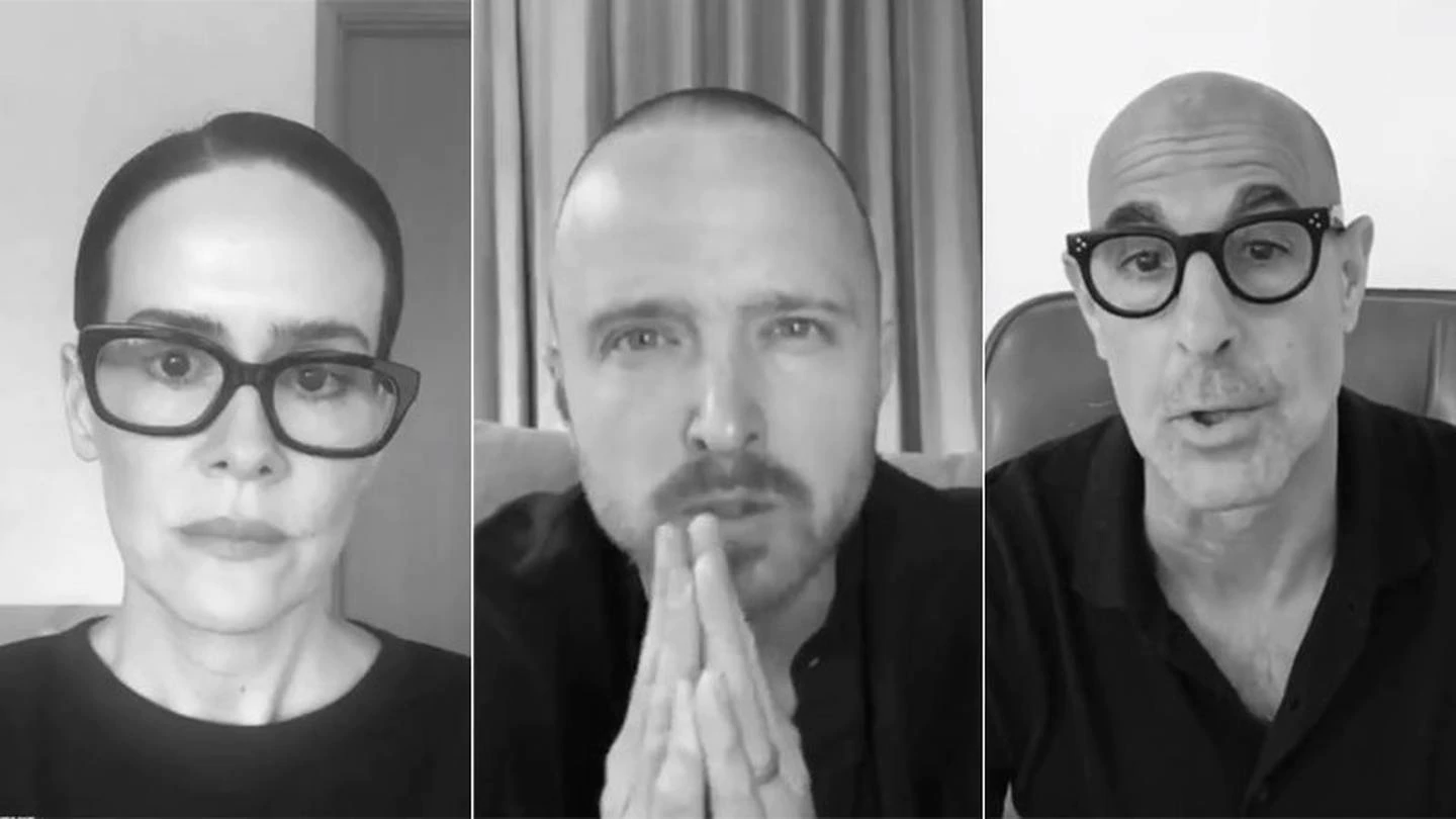 "Sarah Paulson, Aaron Paul and Stanley Tucci star in the ""I Take Responsibility"" campaign which..."
