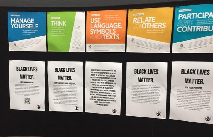 Students at St Andrew's College in Christchurch had been putting up posters to raise awareness of...