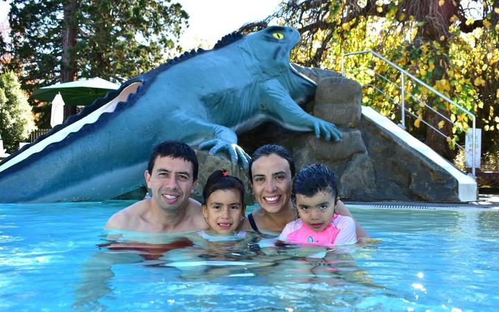 Diego and Carolina Rodriguez and their daughters, Sophia and Olivia, who are stranded in Colombia...