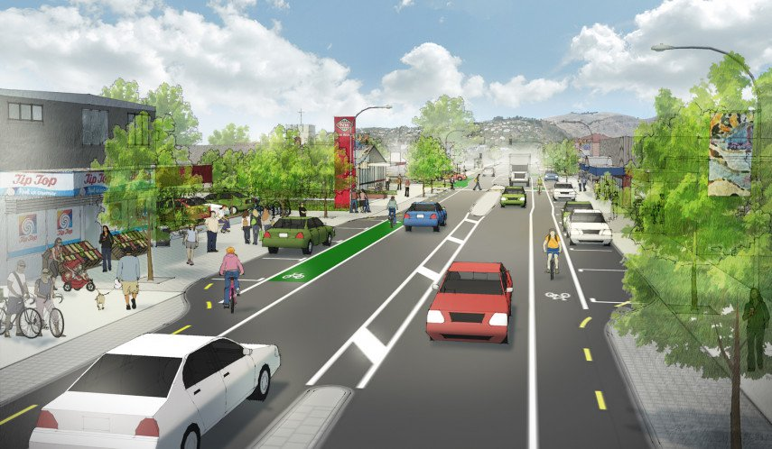 An artist's impression of Ferry Road looking south east. Image: CCC