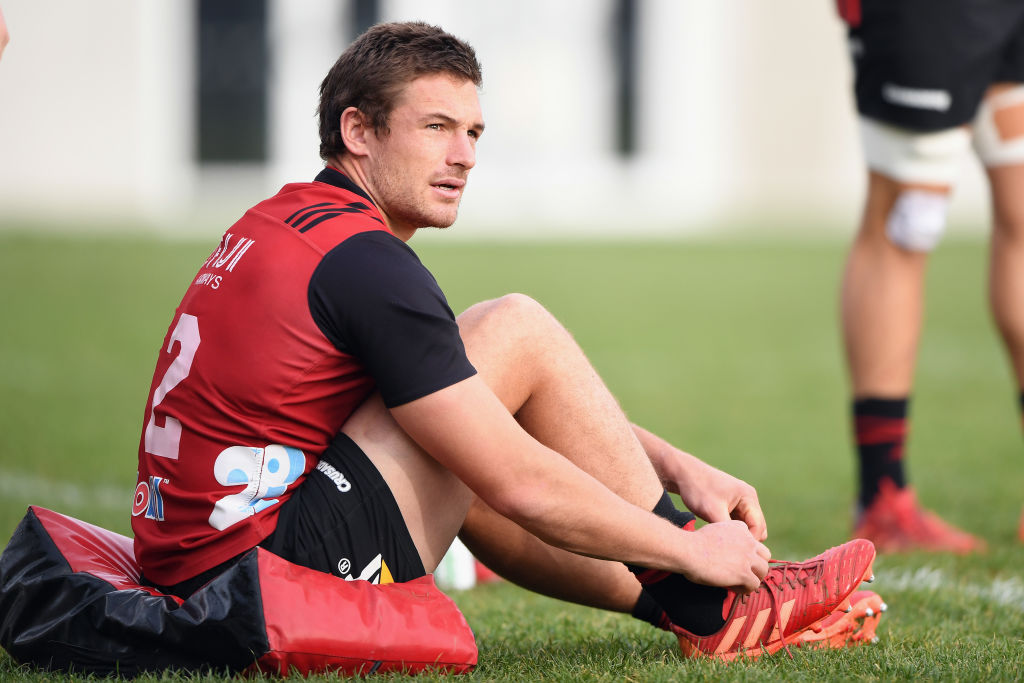 George Bridge during a Crusaders training session at Rugby Park earlier this month. Photo: Getty...