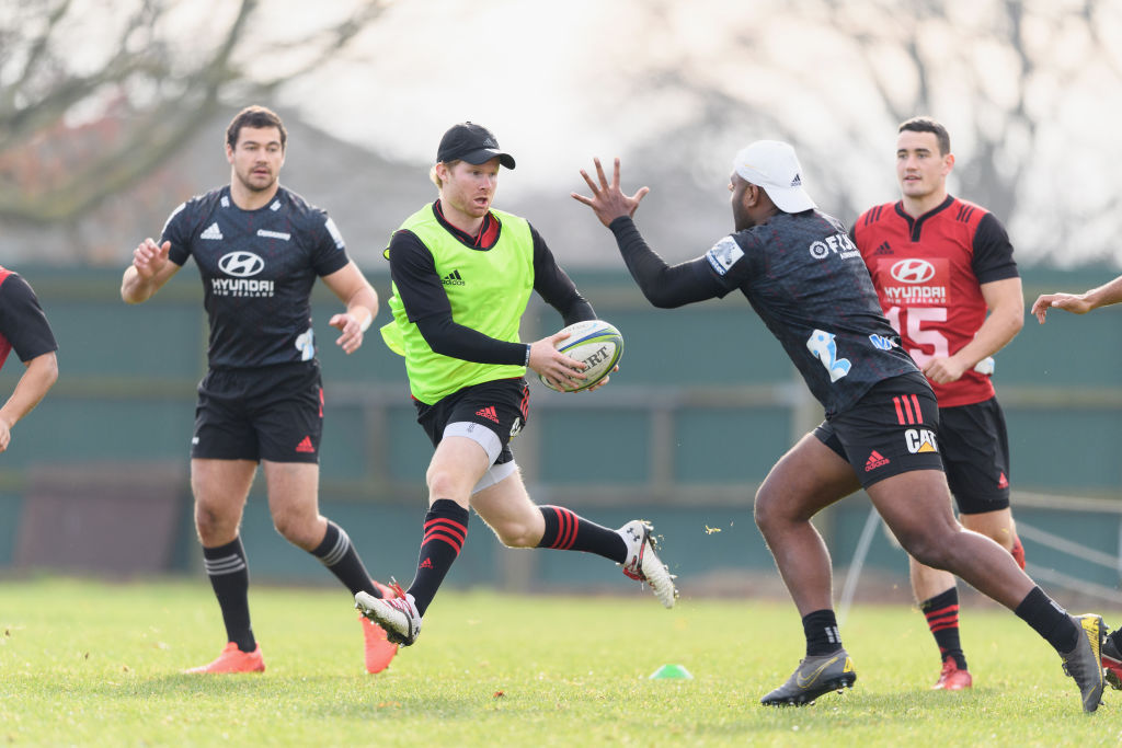 The Crusaders training on Thursday. Photo: Getty Images