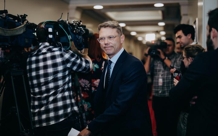 Paul Goldsmith at Parliament today. Photo: RNZ