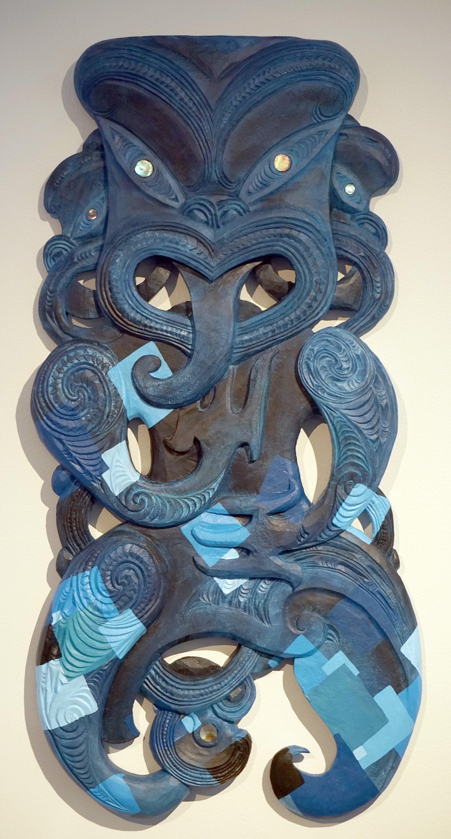 Heremaahina Eketone's carving Nga Kaitiaki.PHOTO: SUPPLIED