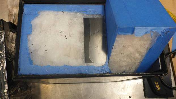 Around 110kg of meth was found inside golf cart batteries in February last year. Photo: Supplied