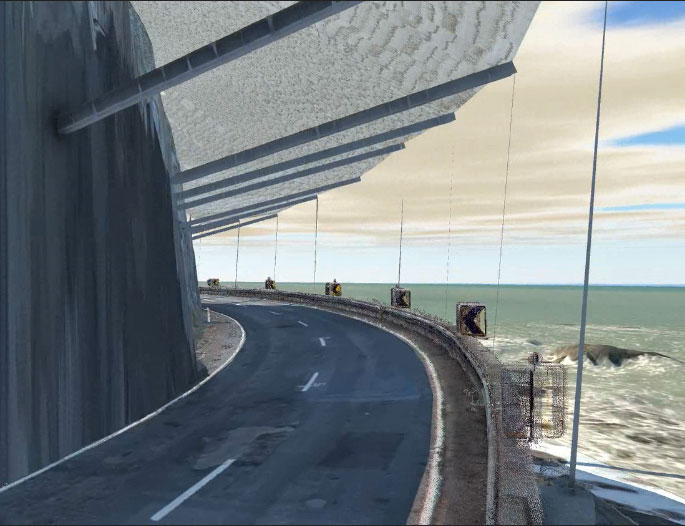 Artist's impression of how the canopy will look once completed.