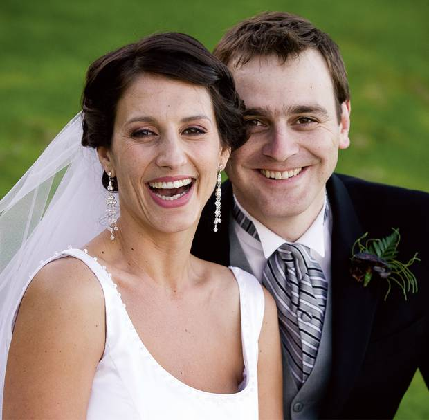 Lecretia Seales with her husband Matt Vickers on their wedding day in April 2006. Photo: Nicola...