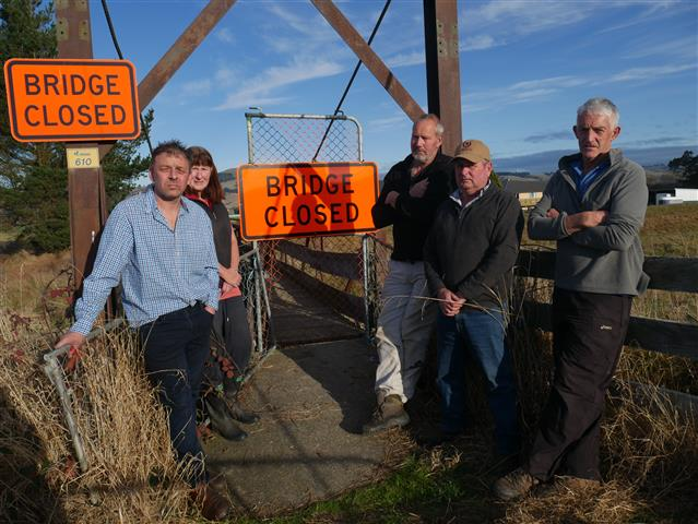 Concerned residents (from left) Mosgiel-Taieri Community Board deputy chairman Dean McAlwee,...
