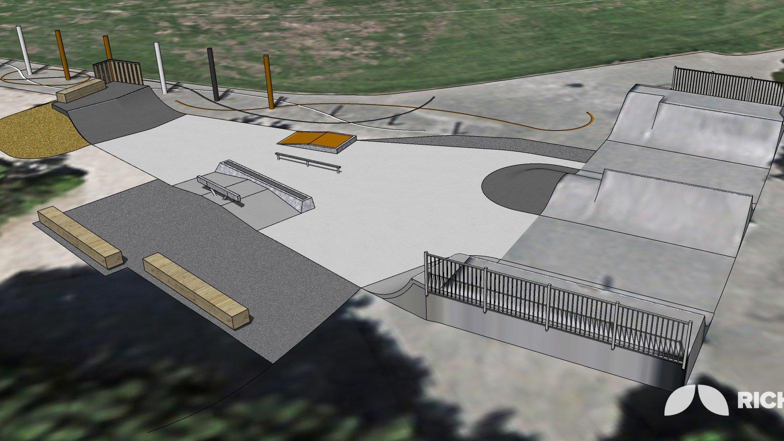 The St Albans skate park extension plan. Image: Newsline / CCC