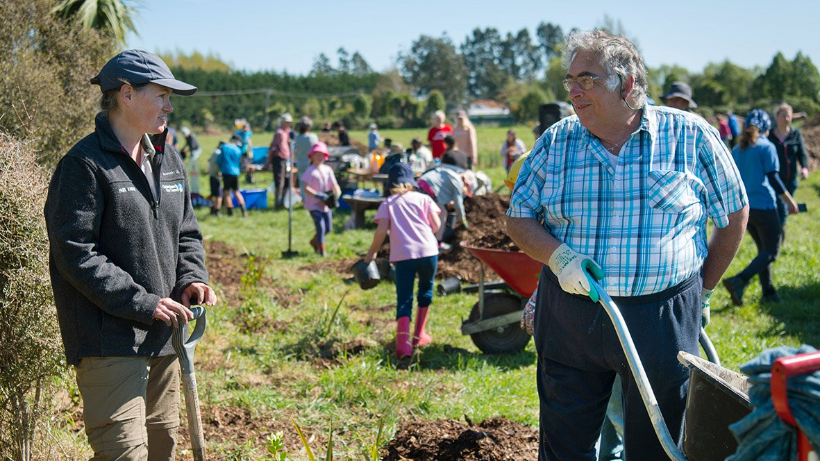 Owen Wright has been a regular at volunteer community planting days for about five years. Photo:...