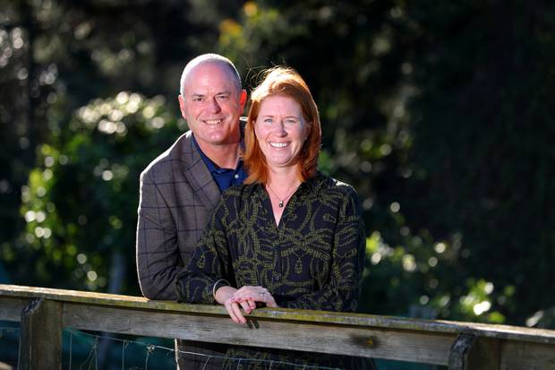 Todd Muller and his wife Michelle at home in Tauranga earlier this year. Photo: NZ Herald