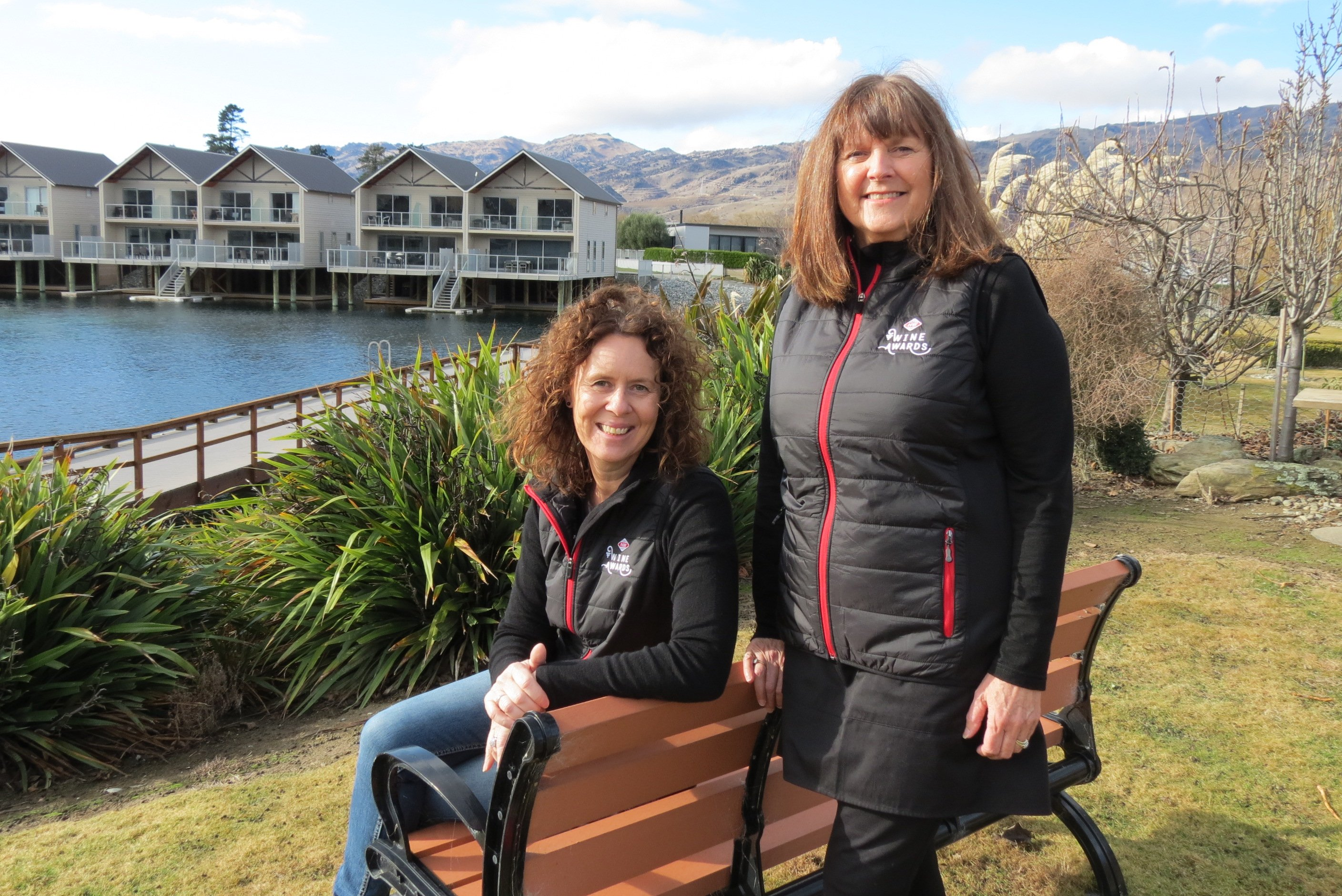 Foodstuffs corporate affairs head Antoinette Laird (left) and Central Otago Winegrowers...
