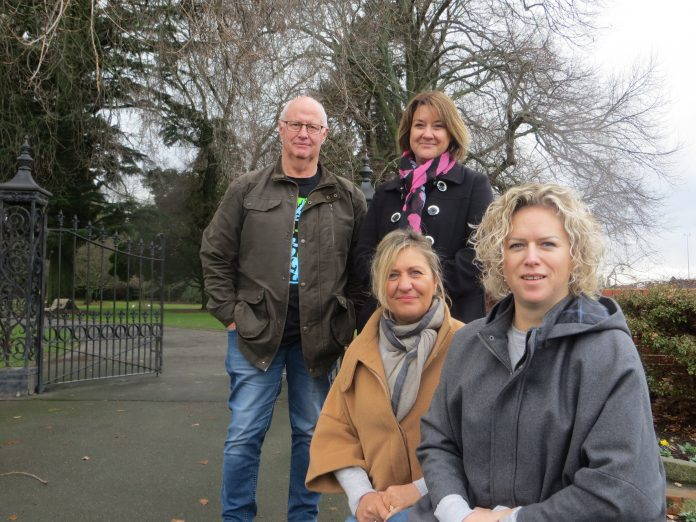 Smokefree Mid Canterbury's members (from left) Pup Chamberlain, Pam Eaden, Mandy Casey and Carly...