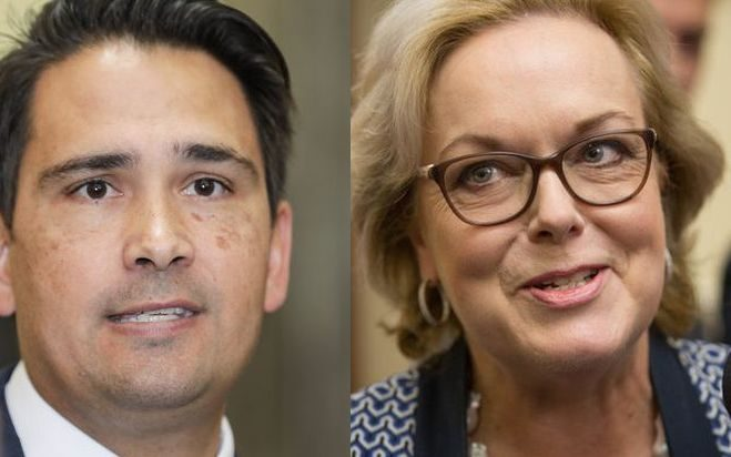 Simon Bridges and Judith Collins are are both contenders to take over the beleaguered National...