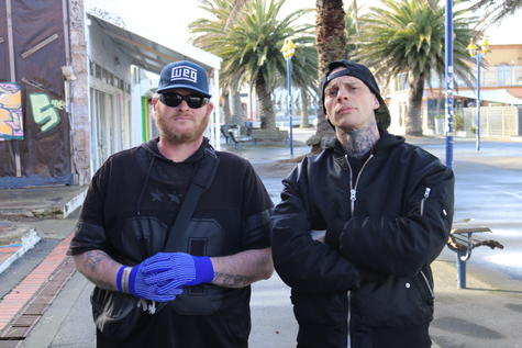 """Former gang members James Quist and Dominic Knight say their vote will be going to """"Aunty Jacinda""""."""