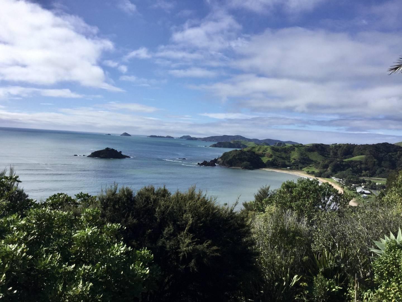 The Rainiers' view from the Te Koha Lodge in Matauri Bay. Photo: Supplied via NZH