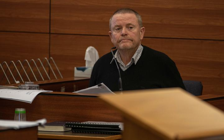 Ed Taylor in the High Court today. Photo: RNZ
